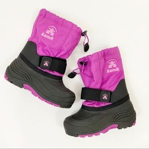 KAMIK Winter Snow Boots Size Toddler 10 *NO LINER*